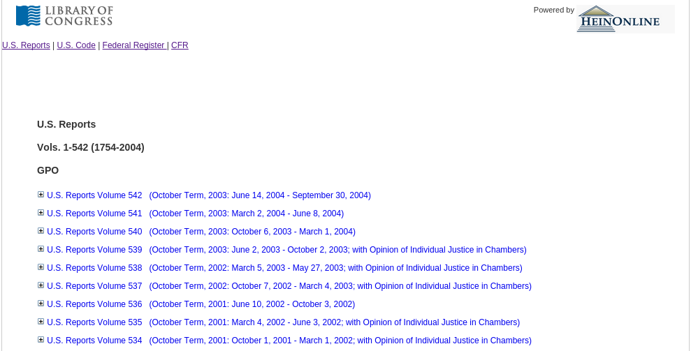 sumpreme court default listing