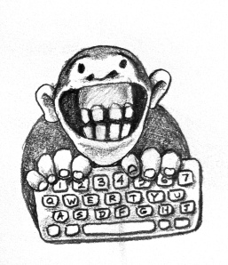 monkey with keyboard