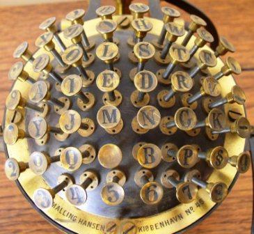 keyboard of typing ball