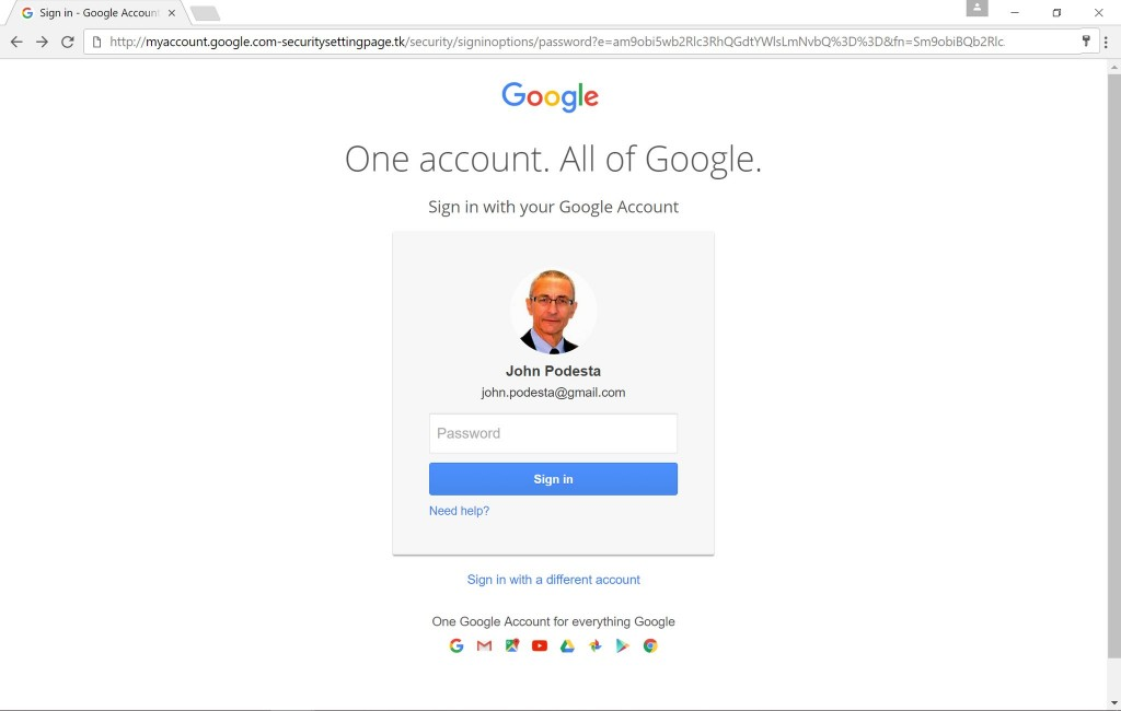 podesta-google-login